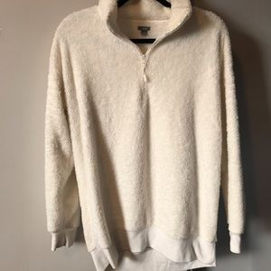 Aerie cream cozy sweatshirt